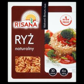 Risana Ryż naturalny 400 g (4 torebki)