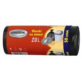 GROSIK Worek na śmieci 20 litrów 50 sztuk