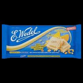 E. Wedel Czekolada biała z cząstkami mango i chrupkami 90 g