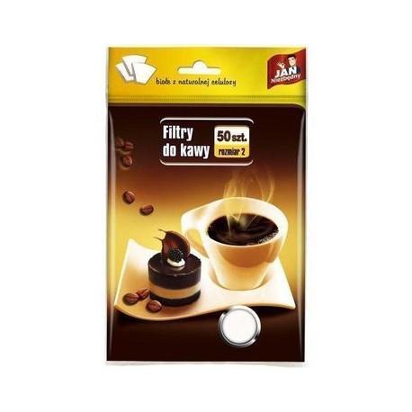 JAN NIEZBĘDNY Filtry do kawy 50 szt. rozmiar 2