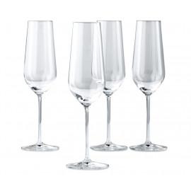 WIODĄCA MARKA Komplet 4 kieliszków do szampana 190ml