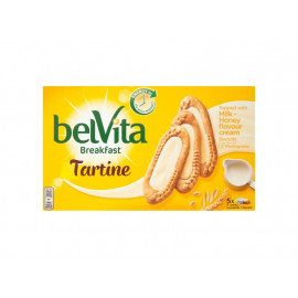 belVita Breakfast Milk-Honey Ciastka zbożowe 250 g (5 x 3 sztuki)
