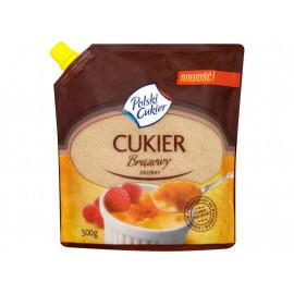 Polski Cukier Cukier brązowy drobny 500 g