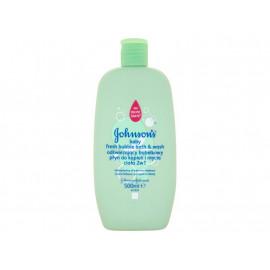 Johnson's Baby Odświeżający bąbelkowy płyn do kąpieli i mycia ciała 2w1 500 ml