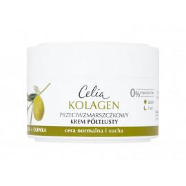 Celia Kolagen Przeciwzmarszczkowy krem półtłusty z oliwką na dzień i noc 50 ml