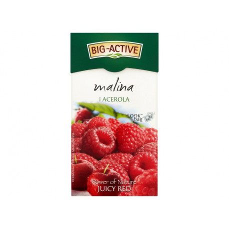 Big-Active Power of Nature Juicy Red malina i acerola Herbatka 45 g (20 torebek)