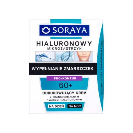 Soraya Hialuronowy mikrozastrzyk 60+ Odbudowujący krem na dzień i na noc 50 ml