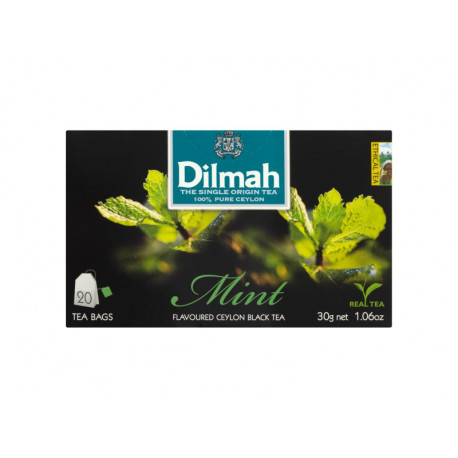 Dilmah Cejlońska czarna herbata z aromatem mięty 30 g (20 torebek)