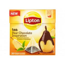 Lipton Inspirowane deserem gruszka w czekoladzie Herbata czarna 32 g (20 torebek)