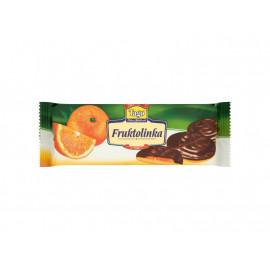 Tago Fruktolinka Biszkopty z żelem pomarańczowym w polewie czekoladopodobnej 130 g