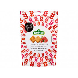 Kupiec Kruche ciasteczka zbożowe o smaku malinowym z żurawiną 50 g