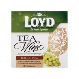 Loyd Tea & Wine Herbata zielona aromatyzowana o smaku białego wytrawnego wina 34 g (20 torebek)