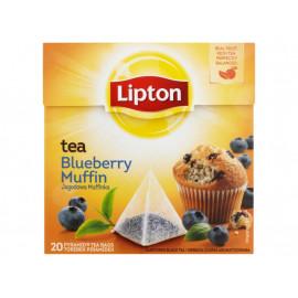 Lipton Jagodowa Muffinka Herbata czarna aromatyzowana 32 g (20 torebek)