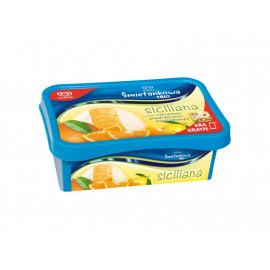 Algida Śmietankowa Trio Siciliana o smaku cytrynowo pomarańczowo śmietankowym Lody 1000 ml