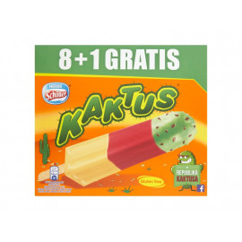 Kaktus Lody wodne o smaku cytrynowym i truskawkowe 405 ml (9 sztuk)