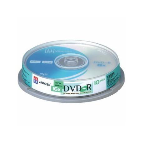 VAKOSS PŁYTA DVD-R, 16X, 10SZ