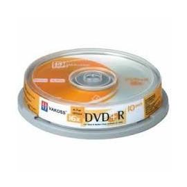 VAKOSS PŁYTA DVD+R, 16X, 10SZT