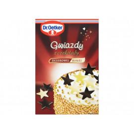 Dr. Oetker Gwiazdy z czekolady deserowej i białej 20 g (12 sztuk)
