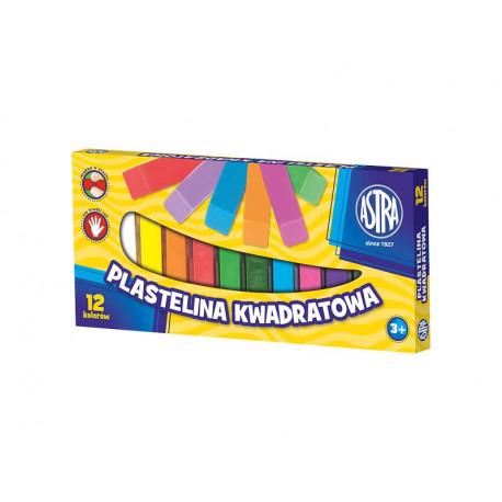 Astra Plastelina kwadratowa 12 kolorów