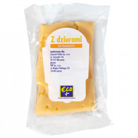 Ser z dziurami  kostka – Ser podpuszczkowy dojrzewający