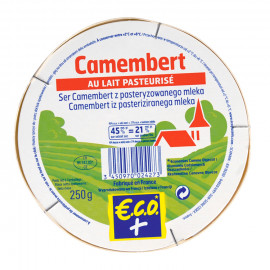 Ser Camembert dojrzewający z porostem pleśni z pasteryzowanego mleka.