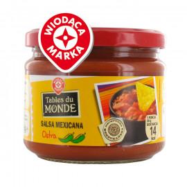 Sos przyprawowy na bazie pomidorów z kawałkami warzyw – ostry.