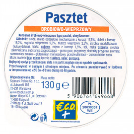 Konserwa drobiowo-wieprzowa typu pasztet, sterylizowana.