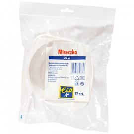 flaczarka biała plastikowa (PS) do zupy 500 ml (12 szt)