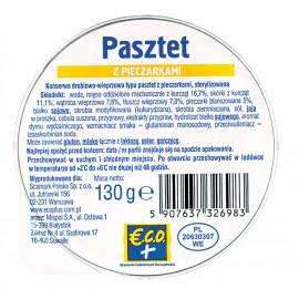 €.C.O.+ Pasztet z pieczarkami  130g