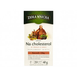 Big-Active Zioła Mnicha Na cholesterol Suplement diety Herbatka ziołowa 40 g (20 torebek)