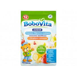 BoboVita Junior Kaszka mleczno-ryżowa owocowo-waniliowa z chrupkami ryżowymi po 12 miesiącu 230 g