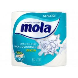 Mola Dekor Ultra chłonne Maxi dłuuugie Ręczniki papierowe 2 rolki