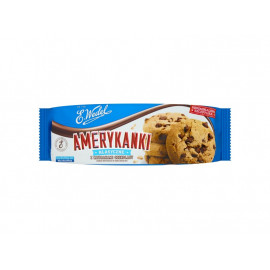 E. Wedel Amerykanki klasyczne Kruche ciastka z kawałkami czekolady 125 g