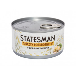 Statesman Tuńczyk rozdrobniony w oleju słonecznikowym 185 g