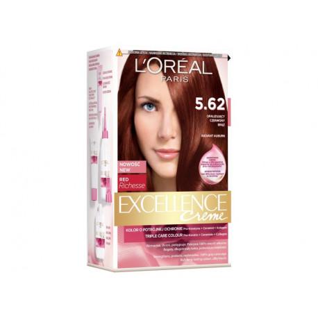 L'Oréal Paris Excellence Creme Farba do włosów 5.62 Opalizujący czerwony brąz