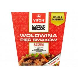 Vifon Lunch Box Wołowina pięć smaków z ryżem Danie pikantne 175 g