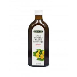Premium Rosa Syrop z kwiatów mniszka lekarskiego z cytryną o niższej zawartości cukru, 250 ml