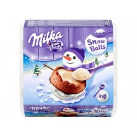 Milka Snow Balls Czekolada mleczna z mleka alpejskiego 112 g (4 sztuki)