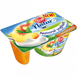Zott Jogurt naturalny & polewa brzoskwiniowa