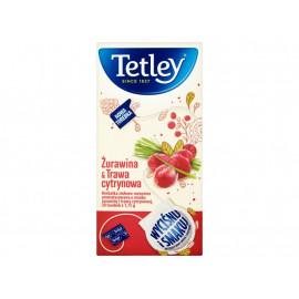 Tetley Żurawina & Trawa cytrynowa Herbatka ziołowo-owocowa 35 g (20 torebek)