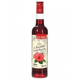 Premium Rosa syrop z kwiatów hibiskusa, 400 ml
