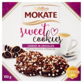 Mokate caffetteria Herbatniki z masłem i pokryte ciemną czekoladą 100 g