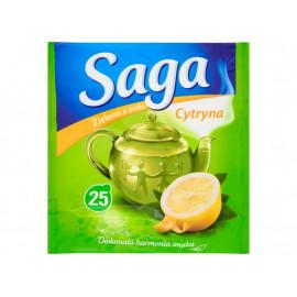 Saga Herbata zielona o smaku cytryna 32,5 g (25 torebek)