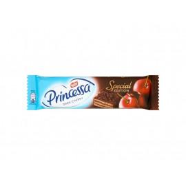 Princessa Dark Cherry Wafel przekładany kremem o smaku wiśniowym oblany czekoladą deserową 33 g