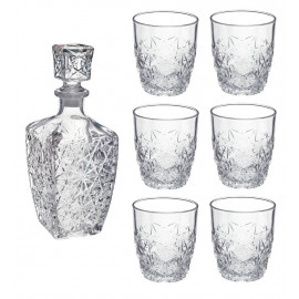 Bormioli Rocco Dedalo Szkło Decanter 800 ml 6 szklanek 260ml
