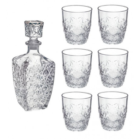 Bormioli Rocco Dedalo Szkło Decanter 800 ml 6 szklanek 260ml