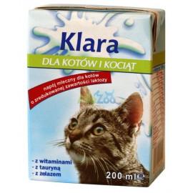 KLARA Napój mleczny dla kotów 200 ml