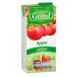 Nektar jabłkowy z soku zageszczonego. Zawartość owoców minimum 50%. Zawiera substancje słodzące. Produkt pasteryzowany