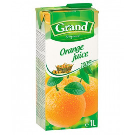 SOK POMARAŃCZOWY 100% z zagęszczonego soku pomarańczowego. Produkt pasteryzowany.