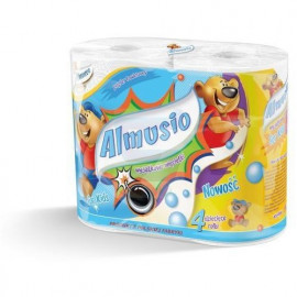 Almusio Papier toaletowy dla dzieci 4 rolki